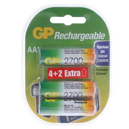 Аккумулятор GP Ni-Mh 270 AA HC 4/2 6 шт.
