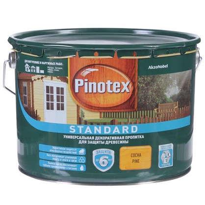 Антисептик Pinotex Standard цвет сосна 9 л цена