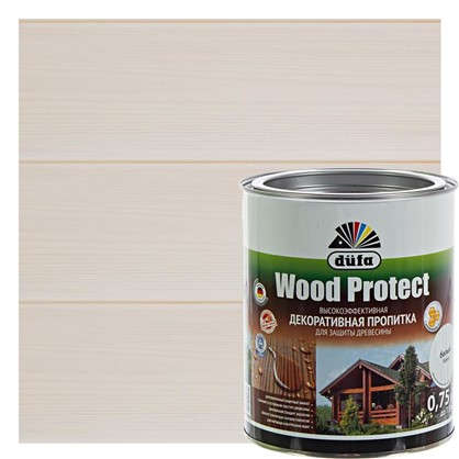 Антисептик Wood Protect цвет белый 0.75 л цена