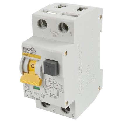 Дифференциальный автомат АВДТ 32 C10 IEK Home 1 полюс 10 А