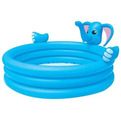 Бассейн надувной детский Слон 324 л 152х152х74 см цена