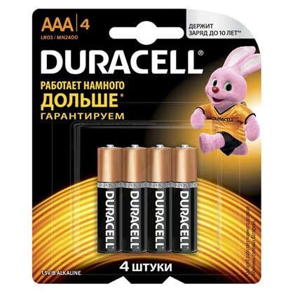 Батарейка алкалиновая Duracell Basic ААА 4 шт.