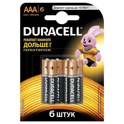 Батарейка алкалиновая Duracell  Basic LR036BL ААА 6 шт. цена