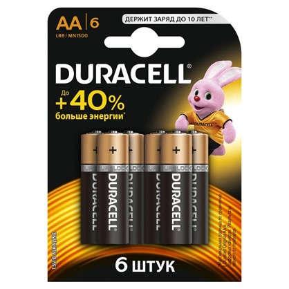 Батарейка алкалиновая Duracell Basic LR6-6BL АА 6шт.