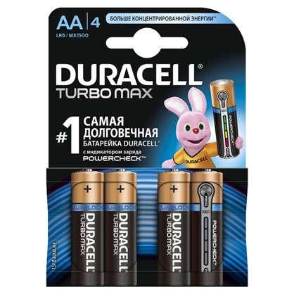 Батарейка алкалиновая Duracell TurboMax АА 4 шт.