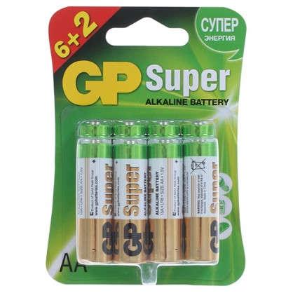 Батарейка алкалиновая GP AA 15A6/2 8 шт. цена