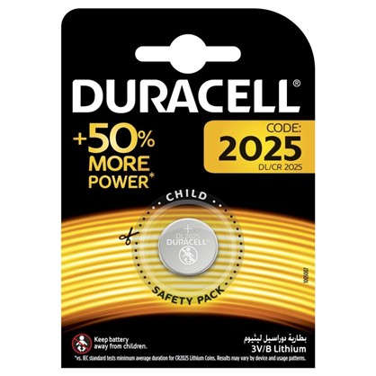 Батарейка литиевая Duracell CR2025