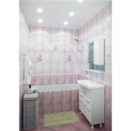 Бордюр Агата С 25х3.5 см цвет розовый