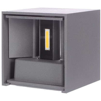 Бра уличное светодиодное RulKub 6 Вт IP54 цвет серый металлик цена