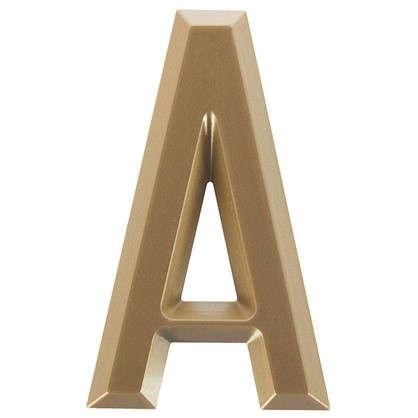 Буква А Larvij самоклеящаяся 60x37 мм пластик цвет матовое золото цена