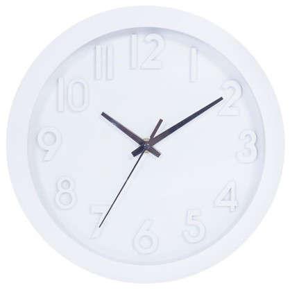 Часы настенные Белые цифры диаметр 25 см