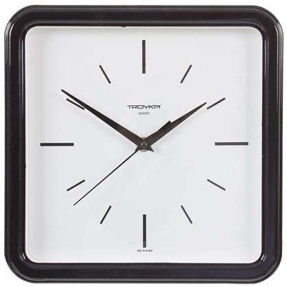 Часы настенные квадратные цвет черный диаметр 25 см цена