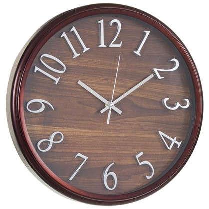 Часы настенные Темное дерево диаметр 36 см цена