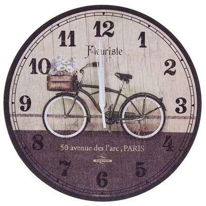 Часы настенные велосипед диаметр 28.5 см цена