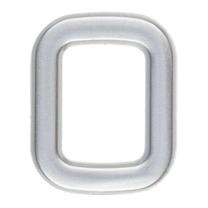 Цифра 0 самоклеящаяся 40х32 мм пластик цвет матовое серебро цена