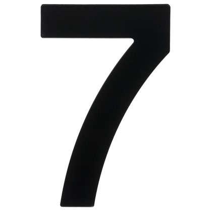 Цифра 7 Larvij большая цвет черный