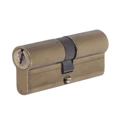 Цилиндр E AL 70 35x35 мм ключ/ключ цвет бронза