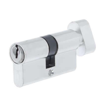 Цилиндр ключ/вертушка 30х30 хромЕ 60 CP T01 цена