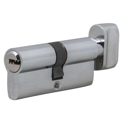 Цилиндр ключ/вертушка 35х35 хром 2J07 70T01 CP цена