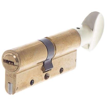 Цилиндр ключ/вертушка 35х35 золото164 DBM-E/70