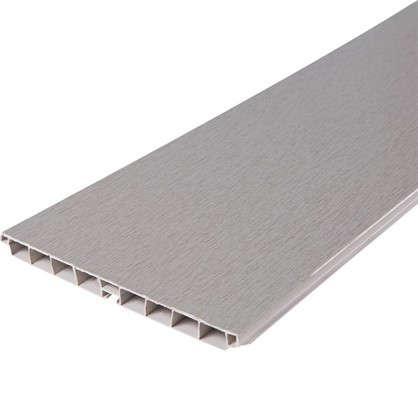 Цоколь 300х15 см ПВХ цвет алюминий цена