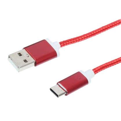 Дата-кабель Oxion DCC029 Type-C цвет красный цена