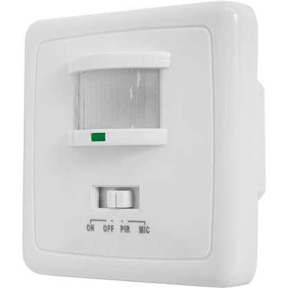 Датчик движения встраиваемый двухпроводной 1100 Вт цвет белый IP20