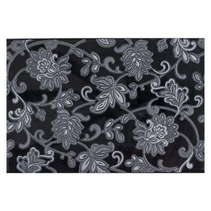 Декор Аджанта цветы 20х30 см цвет чёрный