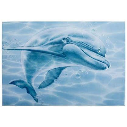Декор Лагуна 7ДФ606 24.9х36.4 см цвет голубой цена