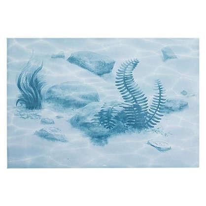 Декор Лагуна Водоросли 24.9х36.4 см цвет голубой