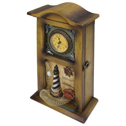 Декоративная ключница Часы 4 ключа цена