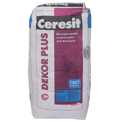 Декоративная штукатурка для фасадов Ceresit Dekor Plus 25 кг