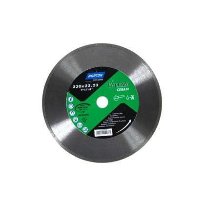 Диск алмазный Norton Ceram со сплошной кромкой 230x22.2 мм