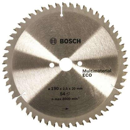 Диск циркулярный по дереву Bosch MultiECO 190x20/16 мм цена