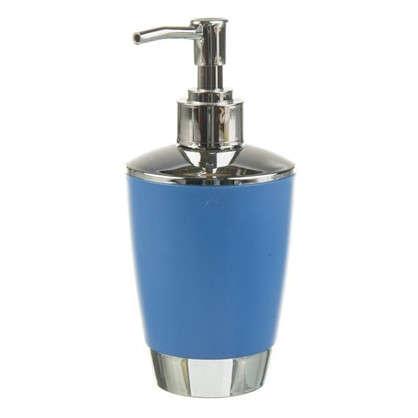Дозатор для жидкого мыла настольный Альма пластик цвет синий