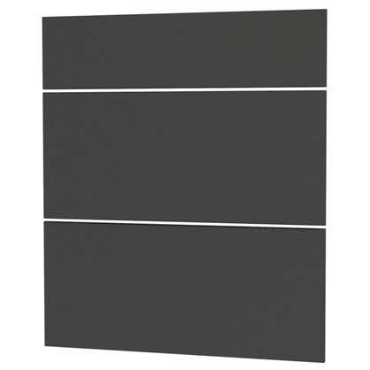 Дверь для шкафа Delinia Графит 3 ящика 60 см МДФ/пленка ПВХ цвет графит