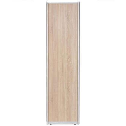 Дверь-купе 2455х804 мм цвет дуб сонома/серебро цена