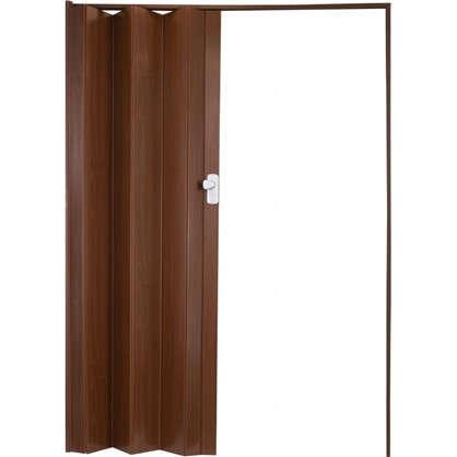 Дверь ПВХ Spacy 84x205 см цвет тёмное дерево