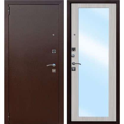 Дверь входная металлическая Царское зеркало Maxi 860 мм левая цвет дуб сонома цена