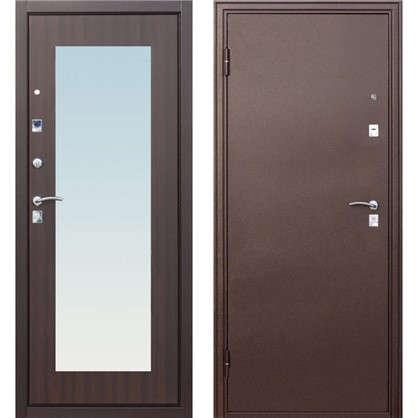 Дверь входная металлическая Царское зеркало Maxi 860 мм левая цвет венге