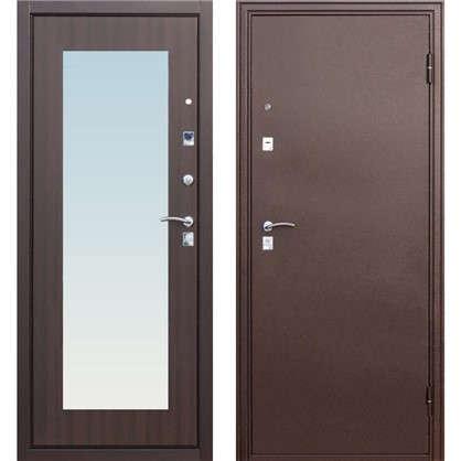 Дверь входная металлическая Царское зеркало Maxi 860 мм правая цвет венге цена