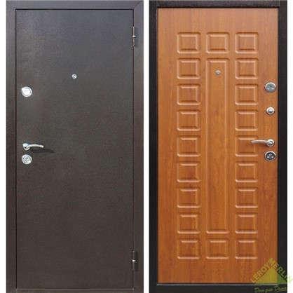 Дверь входная металлическая Йошкар 860 мм правая цвет золотистый дуб цена