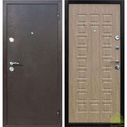 Дверь входная металлическая Йошкар 960 мм левая цвет ель карпатская