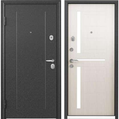 Дверь входная металлическая Контрол 2 950 мм левая цвет белый перламутр цена