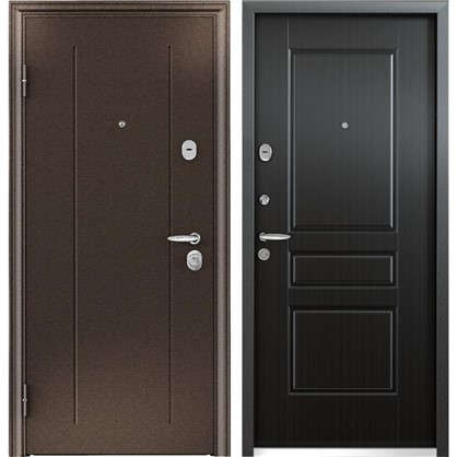 Дверь входная металлическая Контроль Хит 860 мм левая цвет венге