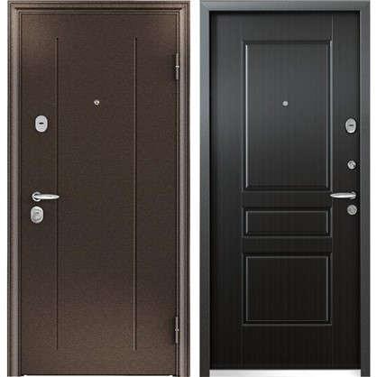 Дверь входная металлическая Контроль Хит 860 мм правая цвет венге цена