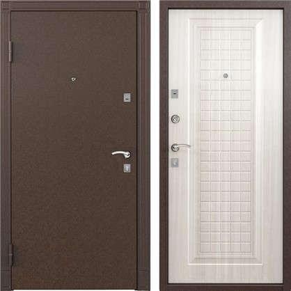 Дверь входная металлическая Спектра 1 860 мм левая цвет белый перламутр