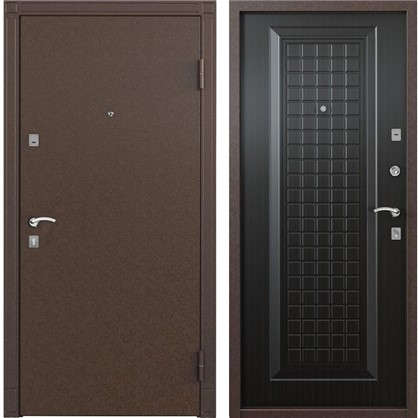 Дверь входная металлическая Спектра 1 860 мм правая цвет тёмный венге цена