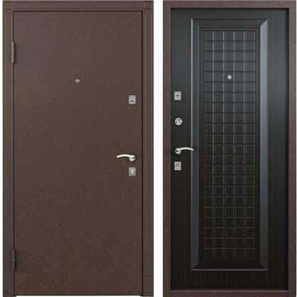 Дверь входная металлическая Спектра 1 950 мм левая цвет тёмный венге цена