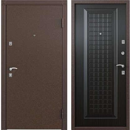 Дверь входная металлическая Спектра 1 950 мм правая цвет тёмный венге цена